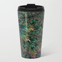 Iridescent Feathers Travel Mug