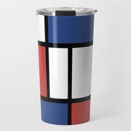 Mondrian 3 #art #mondrian Travel Mug