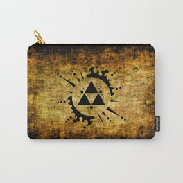 Legend Of Zelda Triforce Grunge Carry-All Pouch