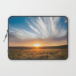 Grand Exit - Golden Sunset on the Oklahoma Prairie Laptop Sleeve