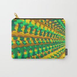 green yellow and brown painting geometric graffiti abstract background Carry-All Pouch