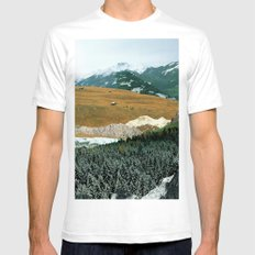 Experiment am Berg 21 White Mens Fitted Tee LARGE