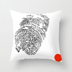the Fingerprint Throw Pillow