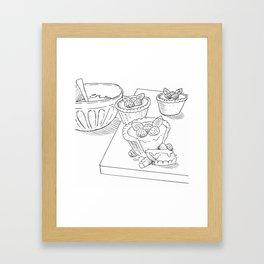 Raspberry Tarts Framed Art Print