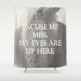 Beard Etiquette Shower Curtain