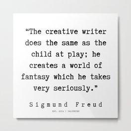 44 |   Sigmund Freud Quotes | 190926 Metal Print