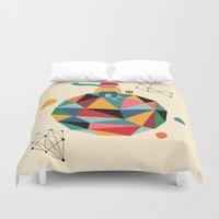 lonely Duvet Covers featuring Lonely planet by Andy Westface