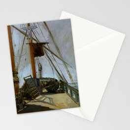 "Édouard Manet ""The ship's deck"" Stationery Cards"