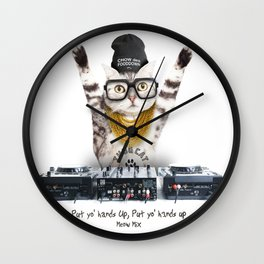 Thug Cat Wall Clock