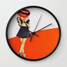 Vintage lady lips Wall Clock