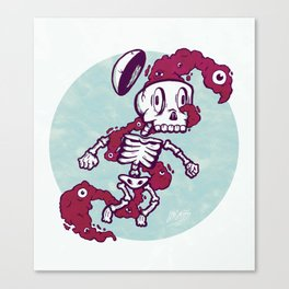 Skull Flux Canvas Print