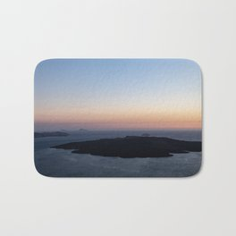 Santorini Volcano at Sunset Bath Mat
