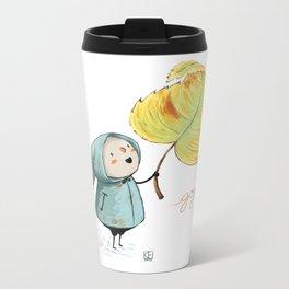 Goji and the leaf Metal Travel Mug