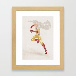 The Caped Baldy Framed Art Print