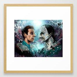 Garak and Bashir Face Framed Art Print