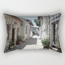 The Cobbled Back Streets Surrounding Old Marmaris Rectangular Pillow