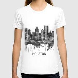 Houston Texas Skyline BW T-shirt