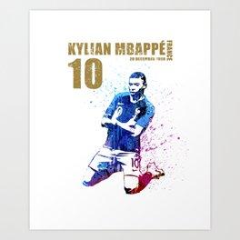 World cup 2018 - france 10 gold Art Print