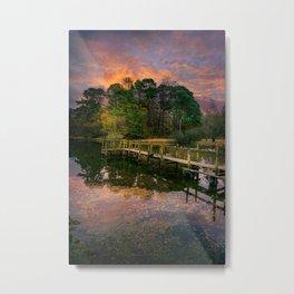 Lakeside Launch Metal Print