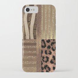 Gold Lioness Safari Chic iPhone Case