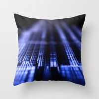 wiz khalifa Throw Pillows featuring Dubai - Burj Al Khalifa Blueprint by gdesai