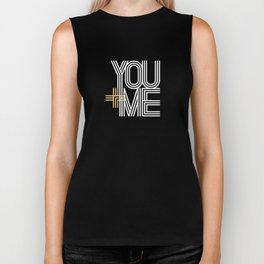 YOU + ME (black background) Biker Tank