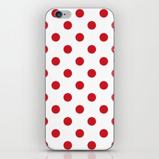 Polka Dots - Fire Engine Red on White by polkadotsshop