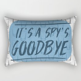 A Spy´s Goodbye 3 Rectangular Pillow