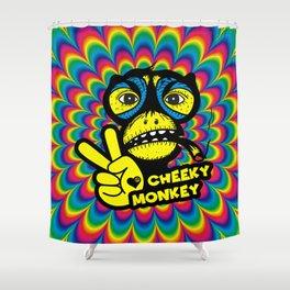 Hippie Trippy Cheeky Monkey Shower Curtain
