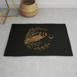 Owl Moon - Gold Rug
