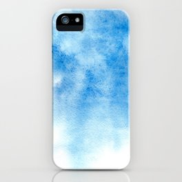 Blue watercolor background iPhone Case