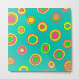 Abstract Dots Metal Print