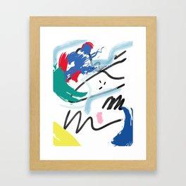 Hand Drawn textures Framed Art Print