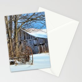 Old barn days Stationery Cards