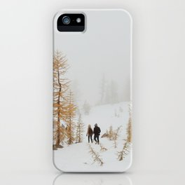Walking in Larch Land iPhone Case