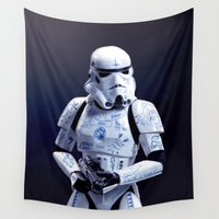 trooper Wall Tapestries featuring Tattooed Trooper by Dr.Söd