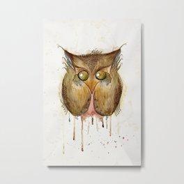 Vaguely Disturbing Owl Metal Print