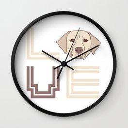 I Love Labradors Wall Clock