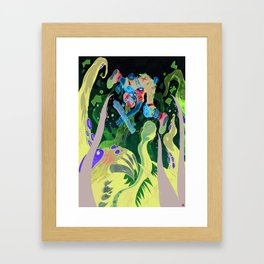 Skating pirate. Framed Art Print