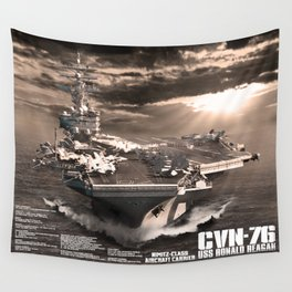 Aircraft carrier Ronald Reagan Wall Tapestry