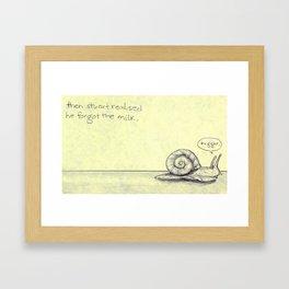 Snail Milk Framed Art Print