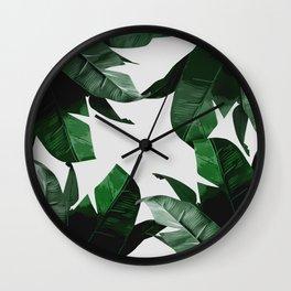 Banana Palm Leaves Wall Clock