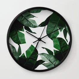 Banana Palm Leaves Wall Clock