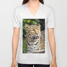 Amur Leopard Unisex V-Neck
