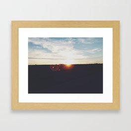 Evening Drive Framed Art Print