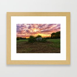 Waring field at sunset Framed Art Print