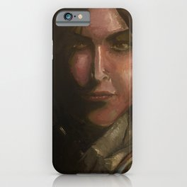 Lara Croft oil painting iPhone Case