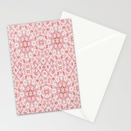 W Lines 3 - White and Lt. Pink Stationery Cards