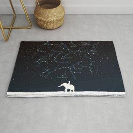 Falling star constellation Rug