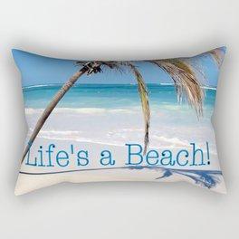 Landscape | Palm and Beach | Life's a Beach! | Nadia Bonello Rectangular Pillow